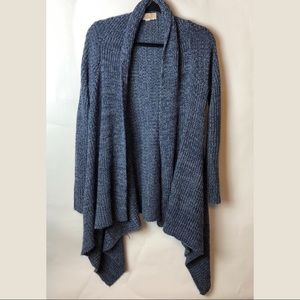 Pink Republic Blue Knit Open Front Cardigan